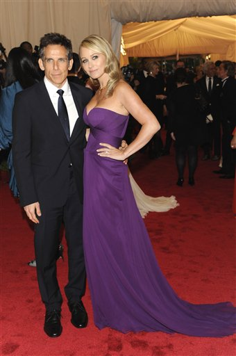 "<div class=""meta image-caption""><div class=""origin-logo origin-image ap""><span>AP</span></div><span class=""caption-text"">Ben Stiller, left, and Christine Taylor arrive at the Metropolitan Museum of Art Costume Institute gala benefit, Monday, May 7, 2012 in New York. (AP Photo/Evan Agostini) (AP)</span></div>"