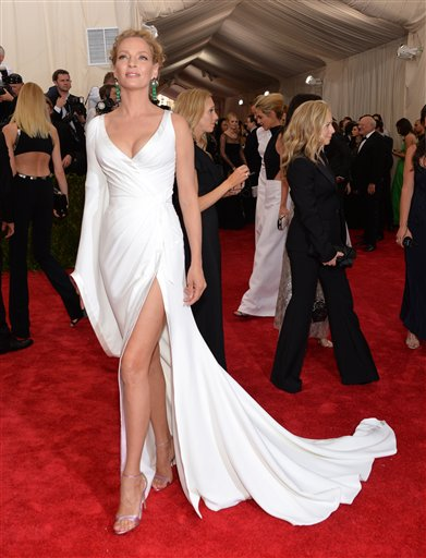 "<div class=""meta image-caption""><div class=""origin-logo origin-image ap""><span>AP</span></div><span class=""caption-text"">Uma Thurman arrives at The Metropolitan Museum of Art's Costume Institute benefit gala on Monday, May 4, 2015, in New York. (Evan Agostini/Invision/AP)</span></div>"