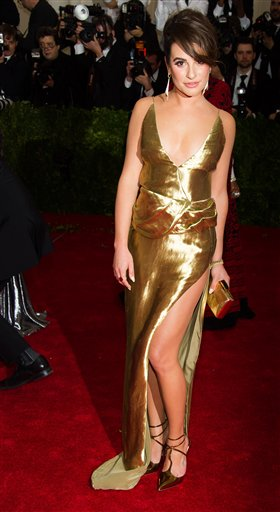 "<div class=""meta image-caption""><div class=""origin-logo origin-image ap""><span>AP</span></div><span class=""caption-text"">Lea Michele attends The Metropolitan Museum of Art's Costume Institute benefit gala celebrating ""Charles James: Beyond Fashion"" on Monday, May 5, 2014, in New York. (Charles Sykes/Invision/AP)</span></div>"