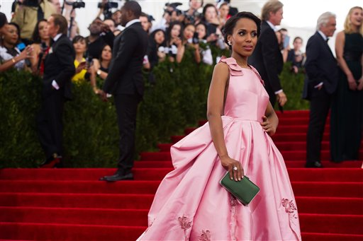 "<div class=""meta image-caption""><div class=""origin-logo origin-image ap""><span>AP</span></div><span class=""caption-text"">Kerry Washington arrives at The Metropolitan Museum of Art's Costume Institute benefit gala on Monday, May 4, 2015, in New York. (Charles Sykes/Invision/AP)</span></div>"