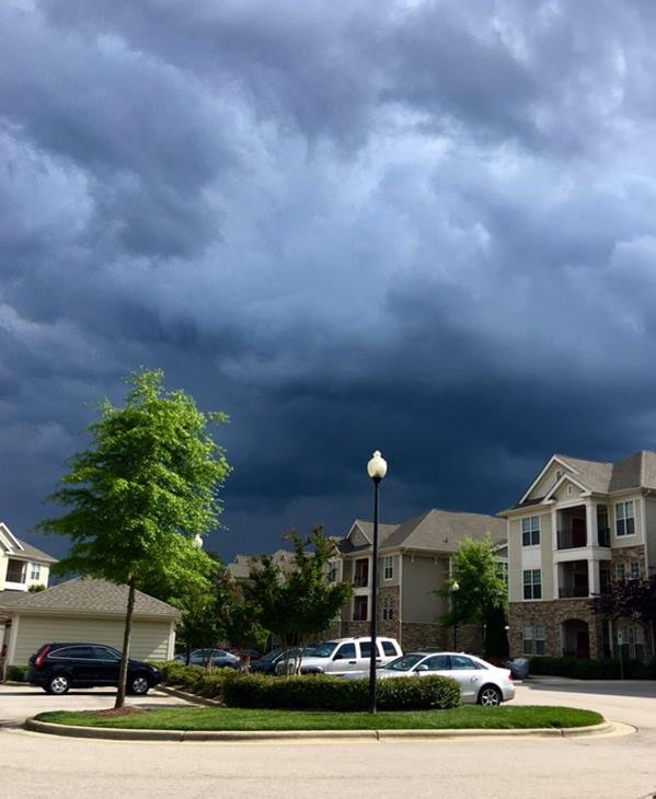 "<div class=""meta image-caption""><div class=""origin-logo origin-image wtvd""><span>WTVD</span></div><span class=""caption-text"">Dark menacing clouds drowning out the sunshine in Cary. (ABC11 Eyewitness)</span></div>"