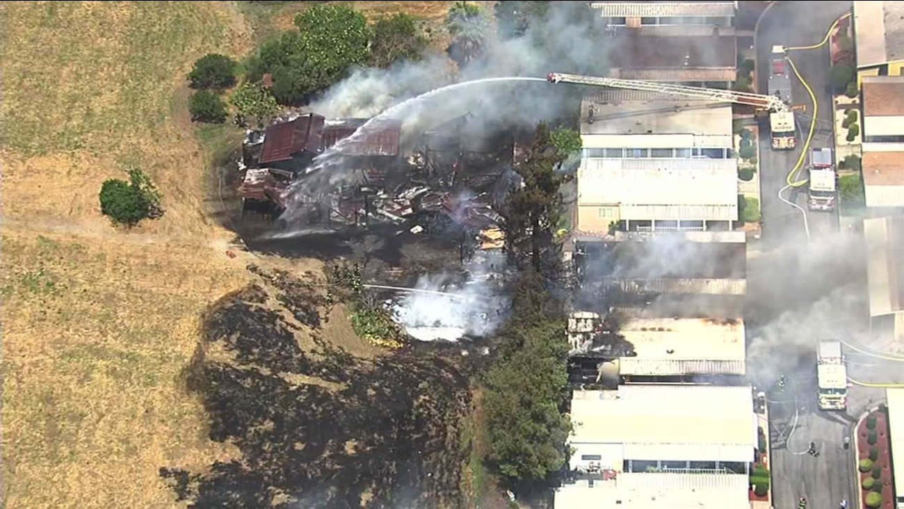 Firefighters responded  to a three-alarm fire at a mobile home park in East San Jose on Monday, May 2, 2016.