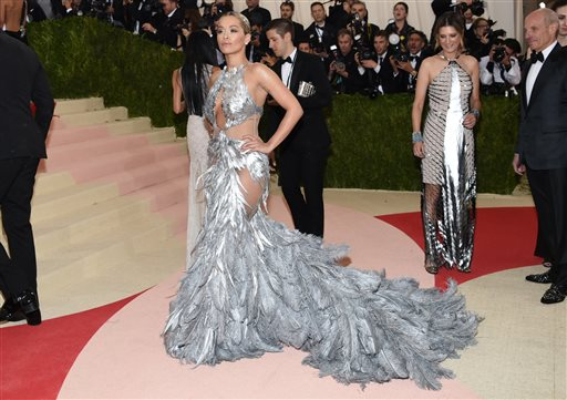 66f439821fa Rita Ora wears a Vera Wang gown at The Metropolitan Museum of Art Costume  Institute Benefit Gala on Monday