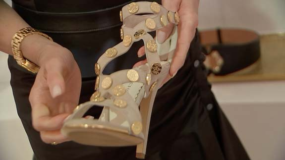<div class='meta'><div class='origin-logo' data-origin='none'></div><span class='caption-text' data-credit=''>Houston shoe designer Joyce Echols shows off her Texas-inspired shoe designs. She plans to expand her brand to include accessories like belts and jewelry.</span></div>