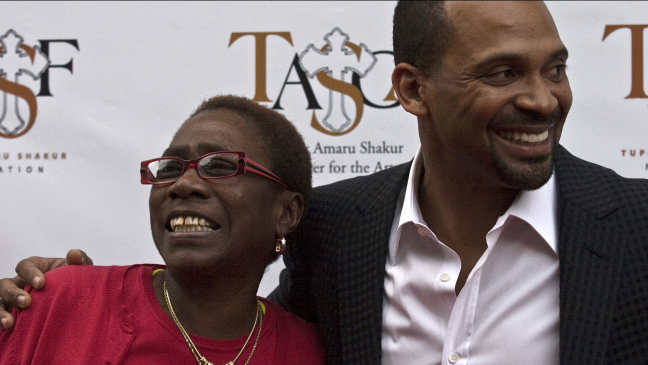 Afeni Shakur and Mike Epps are seen on the red carpet at the Tupac Shakur 40th Birthday Concert Celebration on Thursday, June 16, 2011, in Atlanta, Ga.
