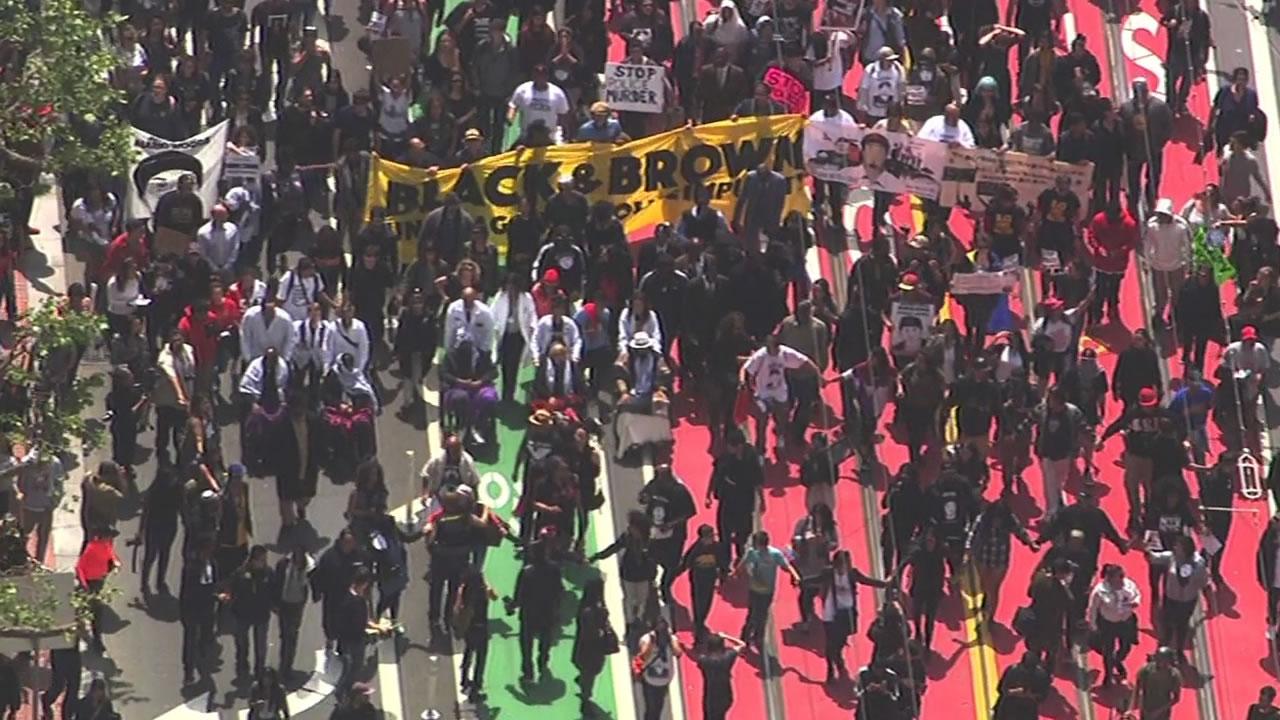 PHOTOS: Protesters call for firing of San Francisco top cop