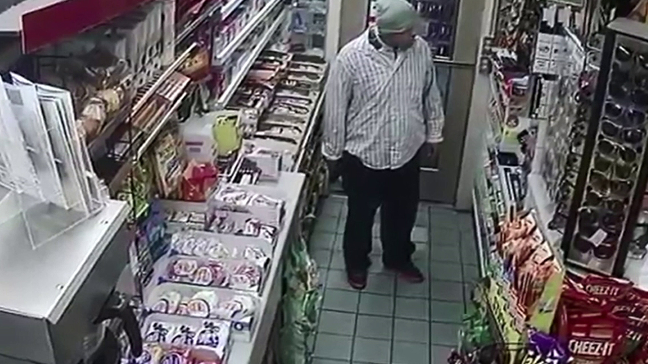 This male suspect allegedly robbed two gas stations in Studio City on Saturday, April 9, 2016.