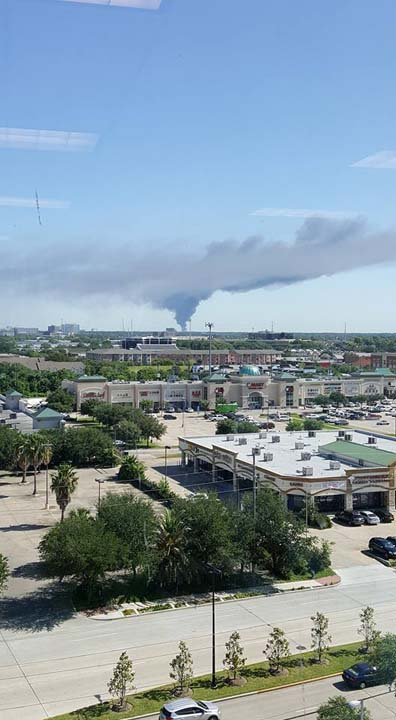 "<div class=""meta image-caption""><div class=""origin-logo origin-image none""><span>none</span></div><span class=""caption-text"">A massive fire is burning at an industrial complex in Spring Branch.</span></div>"