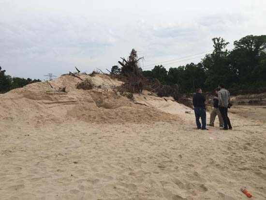 """<div class=""""meta image-caption""""><div class=""""origin-logo origin-image ktrk""""><span>KTRK</span></div><span class=""""caption-text"""">A man is dead after the tunnel he was digging in a sand dune collapsed on him at a Spring-area park. (KTRK)</span></div>"""