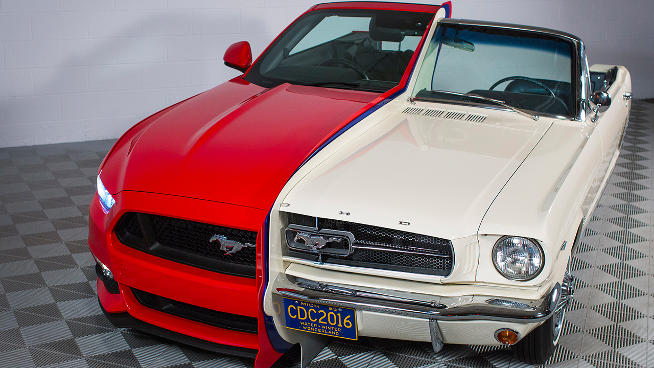 Ford makes hybrid Mustang built from a 1965 model and a 2015 model for the National Inventors Hall of Fame