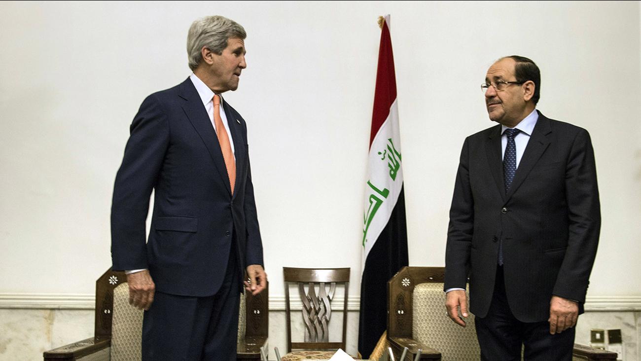 U.S. Secretary of State John Kerry and Iraqi Prime Minister Nouri al-Maliki