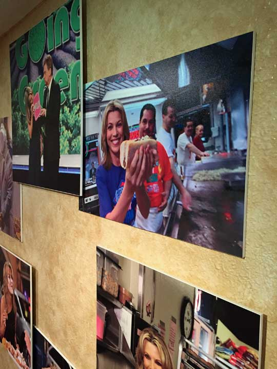 "<div class=""meta image-caption""><div class=""origin-logo origin-image wpvi""><span>WPVI</span></div><span class=""caption-text"">Wheel of Fortune's ""wall of fame"" includes a photo of Vanna visiting Philly's famous Geno's Steaks!</span></div>"