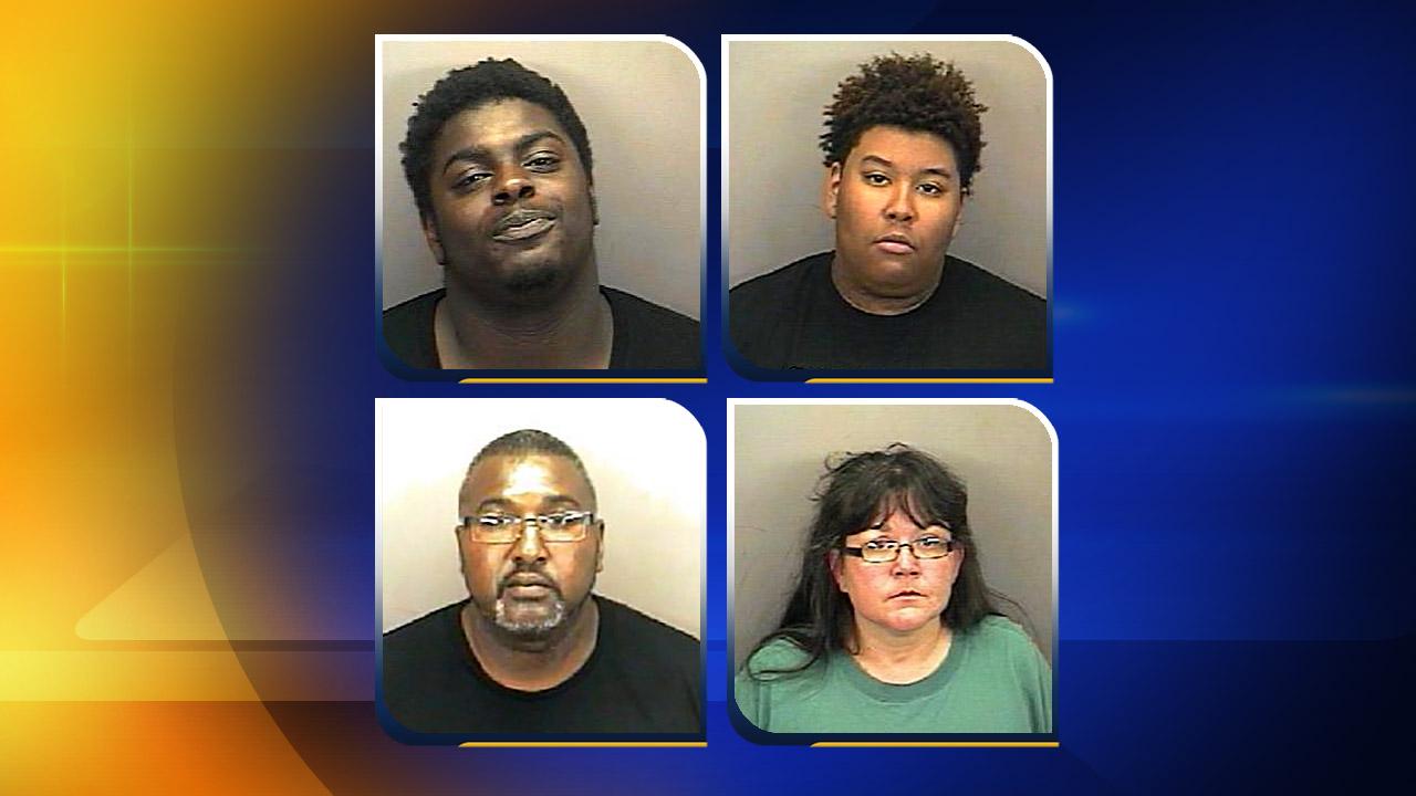 """Top, from left, Alexander """"AJ"""" Lipford, Terrell Jamal Howell. Bottom, from left, Nathan Neal Johnson Sr., Ronnie Renee Fuller"""