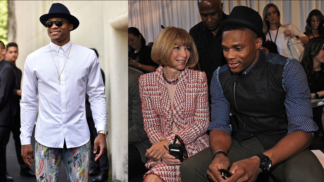 Russell Westbrook of the Oklahoma City Thunder is known for his flashy fashion