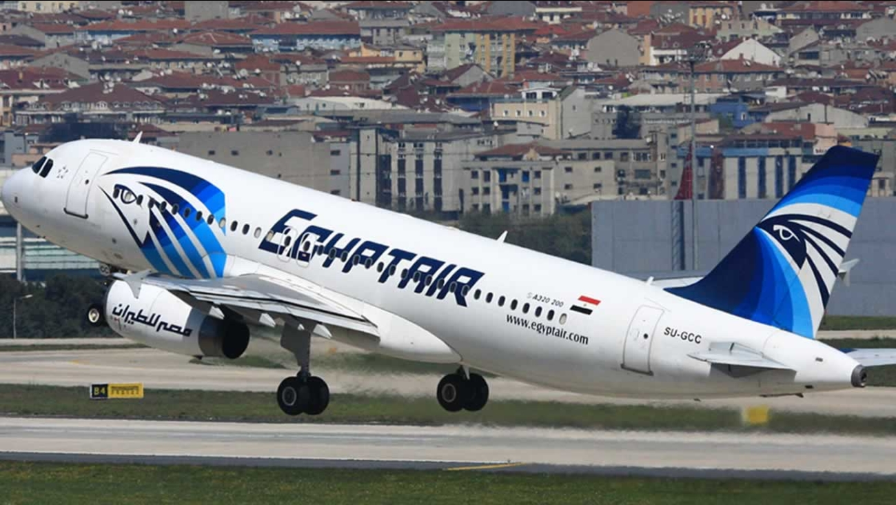 This is a April 2014 image of an EgyptAir Airbus A320 with the registration SU-GCC taking off from Istanbul Atatürk Airport, Turkey.