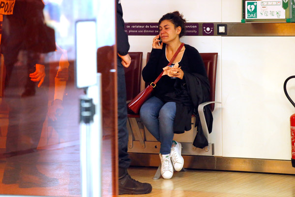 "<div class=""meta image-caption""><div class=""origin-logo origin-image ap""><span>AP</span></div><span class=""caption-text"">A relative of the victims of the EgyptAir flight 804 that crashed, reacts as she makes a phone call at Charles de Gaulle Airport outside of Paris, Thursday, May 19, 2016. (AP Photo/Michel Euler)</span></div>"