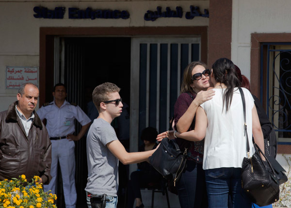 "<div class=""meta image-caption""><div class=""origin-logo origin-image ap""><span>AP</span></div><span class=""caption-text"">Relatives of passengers on a vanished EgyptAir flight leave the Egyptair in-flight service building where they were held at Cairo International Airport, Egypt. (AP Photo/Amr Nabil)</span></div>"