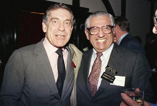 "<div class=""meta image-caption""><div class=""origin-logo origin-image ap""><span>AP</span></div><span class=""caption-text"">Morley Safer poses with Barry Zorthian, chief spokesman for the U.S. Mission in Saigon from 1964-1968, at a reunion of correspondents who covered the Vietnam War, on Nov. 22, 1986. (AP Photo/David Bookstaver)</span></div>"