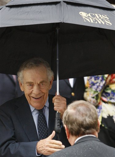 "<div class=""meta image-caption""><div class=""origin-logo origin-image ap""><span>AP</span></div><span class=""caption-text"">CBS 60 Minutes correspondent Morley Safer leaves the funeral for CBS anchorman Walter Cronkite at St. Bartholomew's Church Thursday, July 23, 2009 in New York. (AP Photo/Kathy Willens)</span></div>"