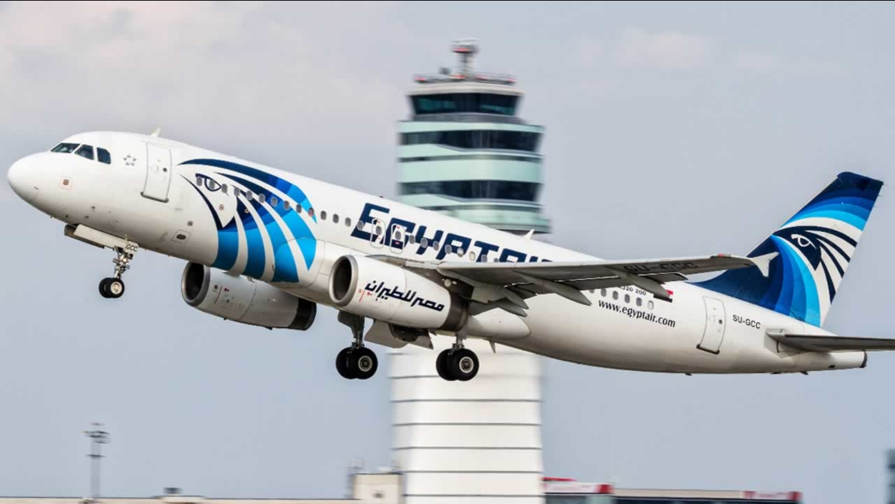 An EgyptAir Airbus A330-300 coming from Cairo rolls on the tarmac at Charles de Gaulle Airport outside of Paris, Thursday, May 19, 2016.
