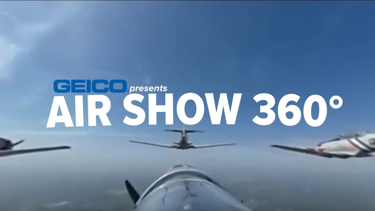jones beach air show geico skytypers 360 video