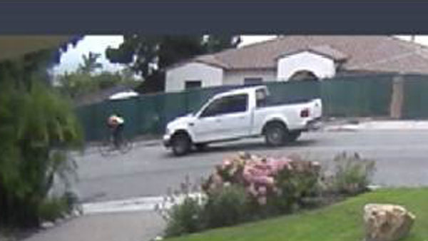 Authorities are looking for the driver of the pick-up truck for information on what led to a cyclist dying after a crash in Palos Verdes Estates.