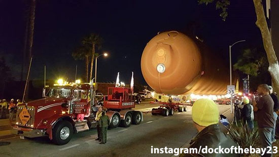 "<div class=""meta image-caption""><div class=""origin-logo origin-image none""><span>none</span></div><span class=""caption-text"">ABC7 viewers submitted photos they captured of the shuttle tank ET-94 trekking through their neighborhood on Saturday, May 21, 2016.</span></div>"