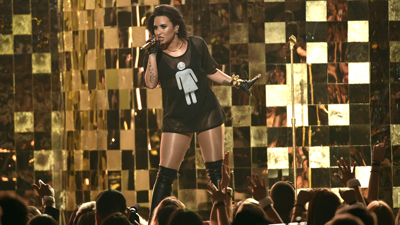 """Demi Lovato performs """"Cool For The Summer"""" at the Billboard Music Awards at the T-Mobile Arena on Sunday, May 22, 2016, in Las Vegas."""