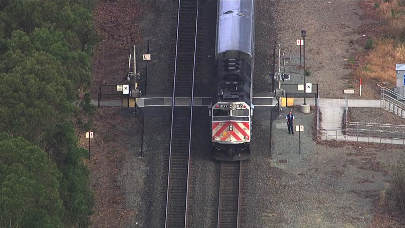 A man was fatally struck by a Caltrain in Burlingame, Calif. on Monday, May 23, 2016.