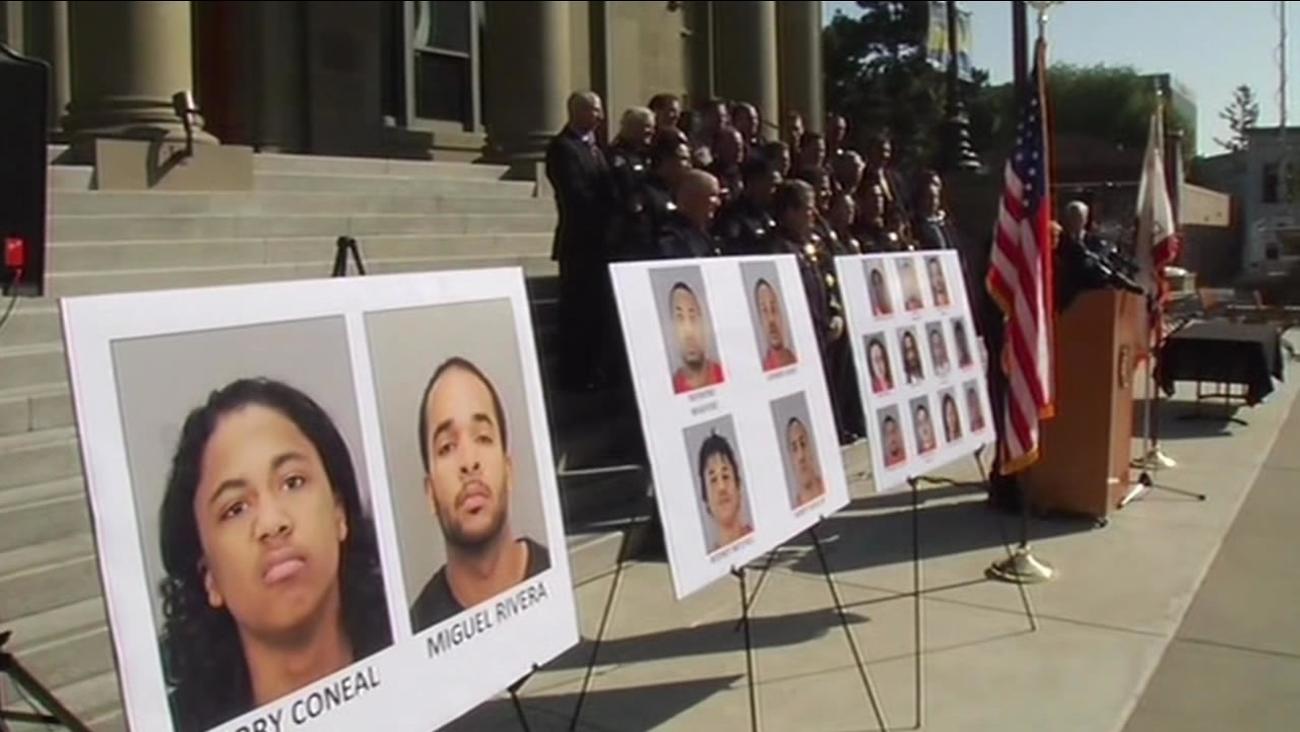 Law enforcement officials announce biggest gang bust in San