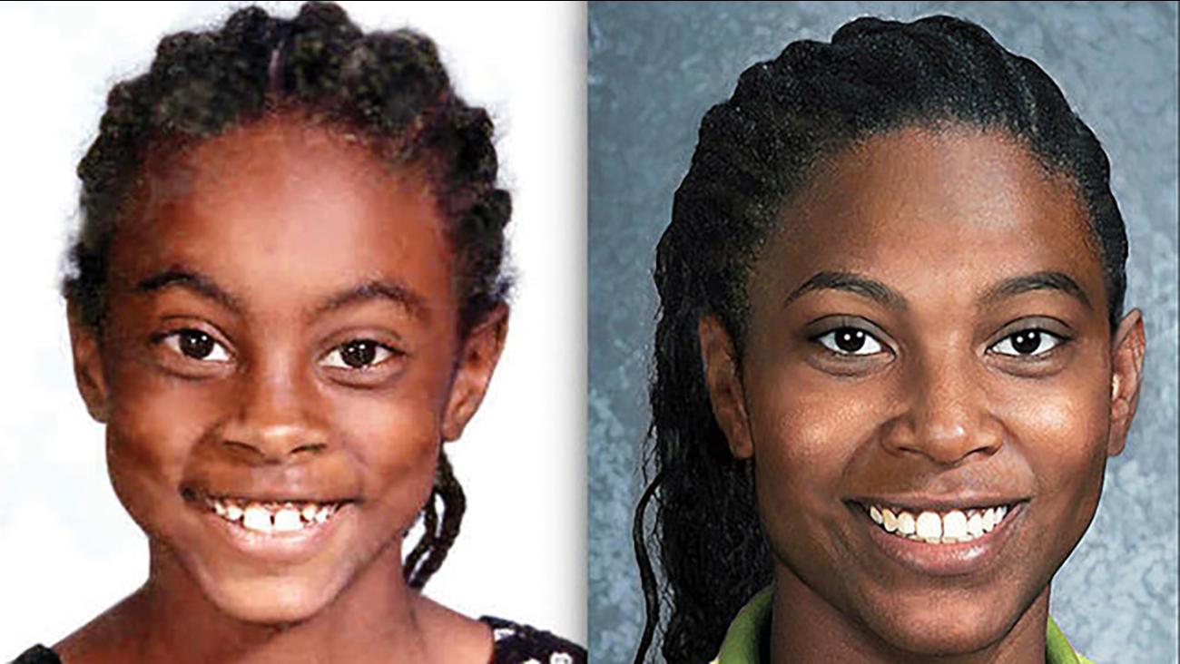 Asha Degree at 9 and at 24 with FBI age-generation software.