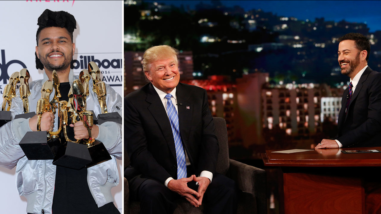 The Weeknd canceled a performance on 'Jimmy Kimmel Live!' because Donald Trump was scheduled to appear on show on Wednesday, May 25, 2016.