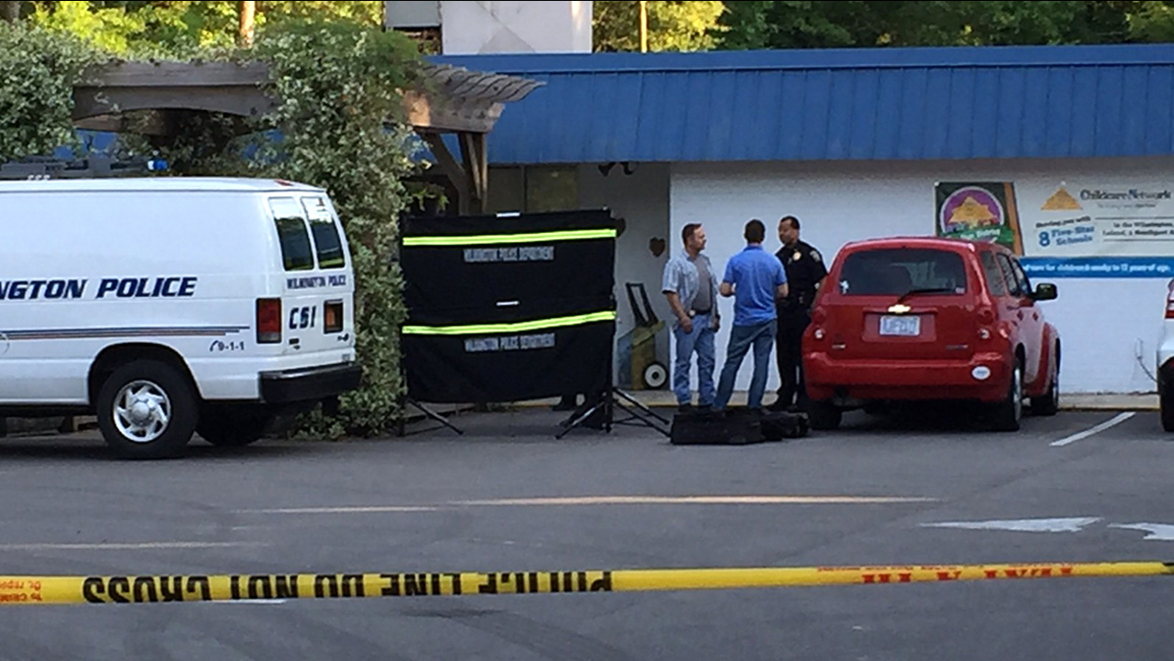 Police investigate after a baby was found dead in a car outside a Wilmington daycare center.