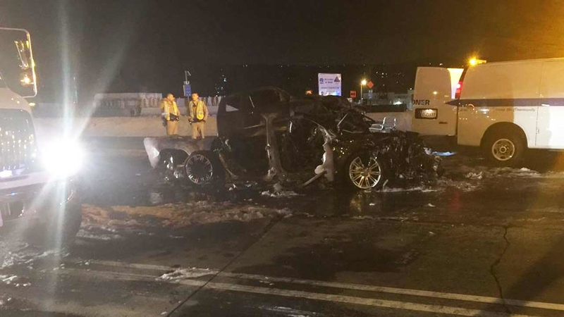 Fatal multi-car crash shuts all WB lanes of 10 Fwy in West Covina