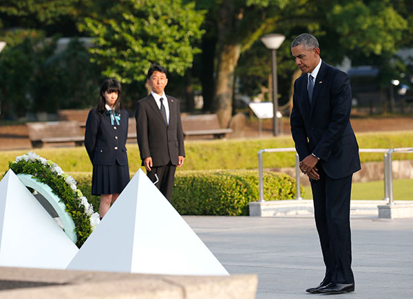 "<div class=""meta image-caption""><div class=""origin-logo origin-image none""><span>none</span></div><span class=""caption-text"">U.S. President Barack Obama stands after laying a wreath at the Hiroshima Peace Memorial Park in Hiroshima, on May 27, 2016. (Shuji Kajiyama/AP Photo)</span></div>"