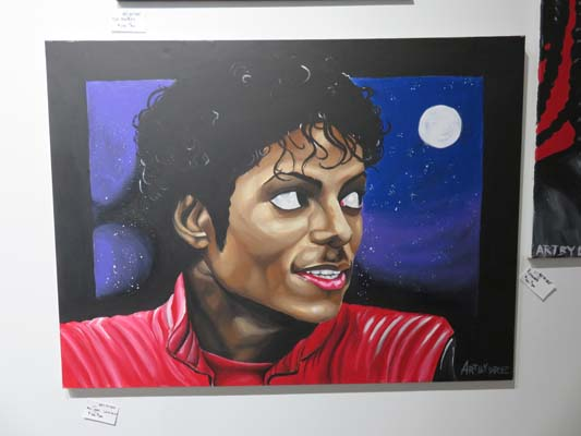 "<div class=""meta image-caption""><div class=""origin-logo origin-image none""><span>none</span></div><span class=""caption-text"">Painting of singer Michael Jackson at Chocolate & Art Show in Houston</span></div>"