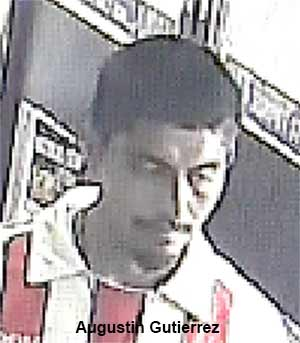 Augustin Gutierrez, 22, is seen in this surveillance still image.