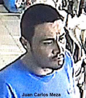 Juan Carlos Meza, 35, is seen in this surveillance still image.