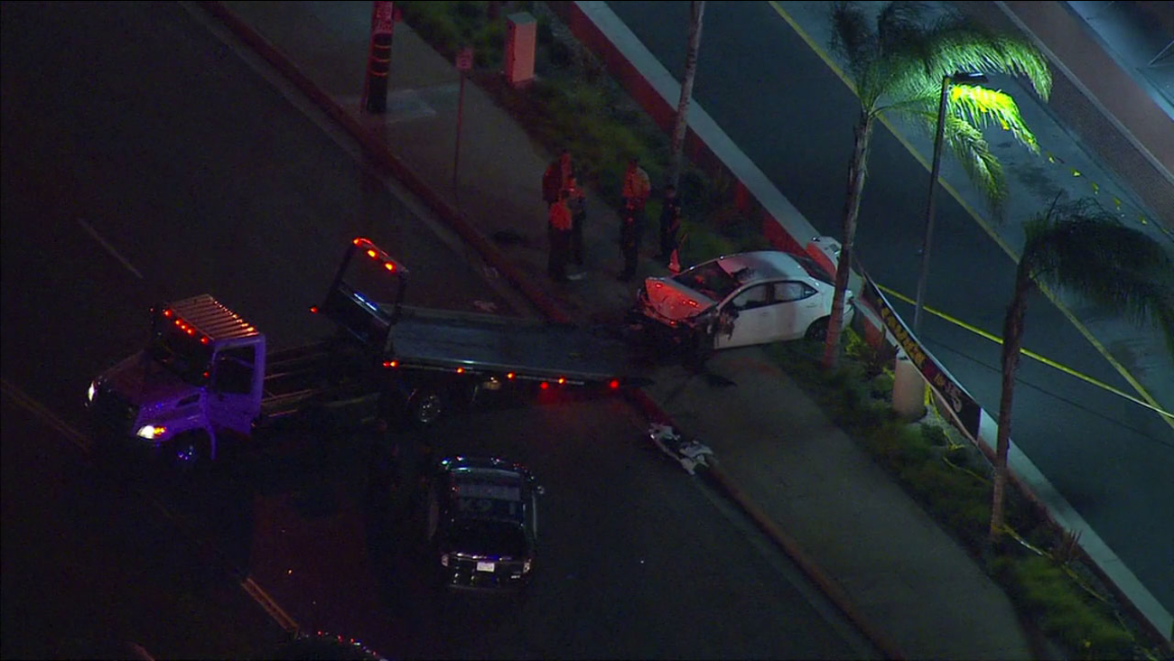 Two suspects in a Corolla crashed in La Puente after a police chase and carjacking in West Covina, officials said.
