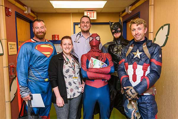 "<div class=""meta image-caption""><div class=""origin-logo origin-image none""><span>none</span></div><span class=""caption-text"">Superman, Spider-Man, Batman and Captain America visited patients and cleaned the windows at University of Missouri Women's and Children's Hospital. (Justin Kelley/University of Missouri Women's and Children's Hospital)</span></div>"