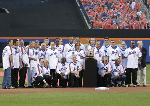 "<div class=""meta image-caption""><div class=""origin-logo origin-image ap""><span>AP</span></div><span class=""caption-text"">The 1986 New York Mets pose for photographs during a ceremony at Citi Field. (AP)</span></div>"