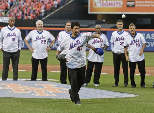 "<div class=""meta image-caption""><div class=""origin-logo origin-image ap""><span>AP</span></div><span class=""caption-text"">Former New York Mets pitcher Jesse Orosco (47) throws a ceremonial first pitch. (AP)</span></div>"