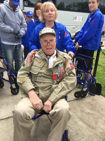 <div class='meta'><div class='origin-logo' data-origin='WPVI'></div><span class='caption-text' data-credit=''>George Shenkle, a WWII veteran of the 82nd Airborne Division, participated in in the Honor Flight Philadelphia excursion on May 21, 2016.</span></div>