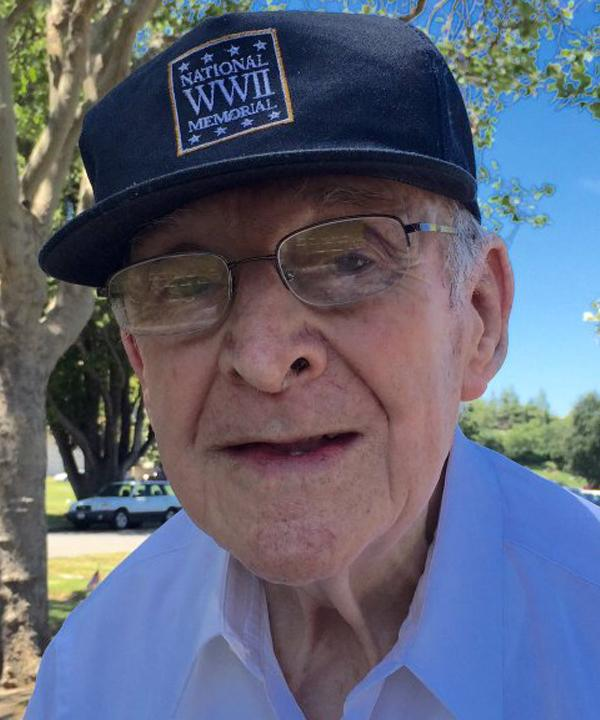 """<div class=""""meta image-caption""""><div class=""""origin-logo origin-image none""""><span>none</span></div><span class=""""caption-text"""">91-year-old WWII vet Art Gallegos played alto sax at the Memorial Day service in San Jose, Monday May 30, 2016. (KGO-TV)</span></div>"""