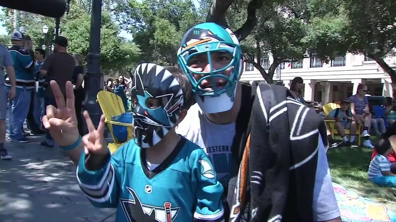 "<div class=""meta image-caption""><div class=""origin-logo origin-image none""><span>none</span></div><span class=""caption-text"">San Jose Sharks fans in San Jose, Calif., ahead of Game 1 on the Stanley Cup Final on Monday, May 30, 2016. (KGO-TV)</span></div>"