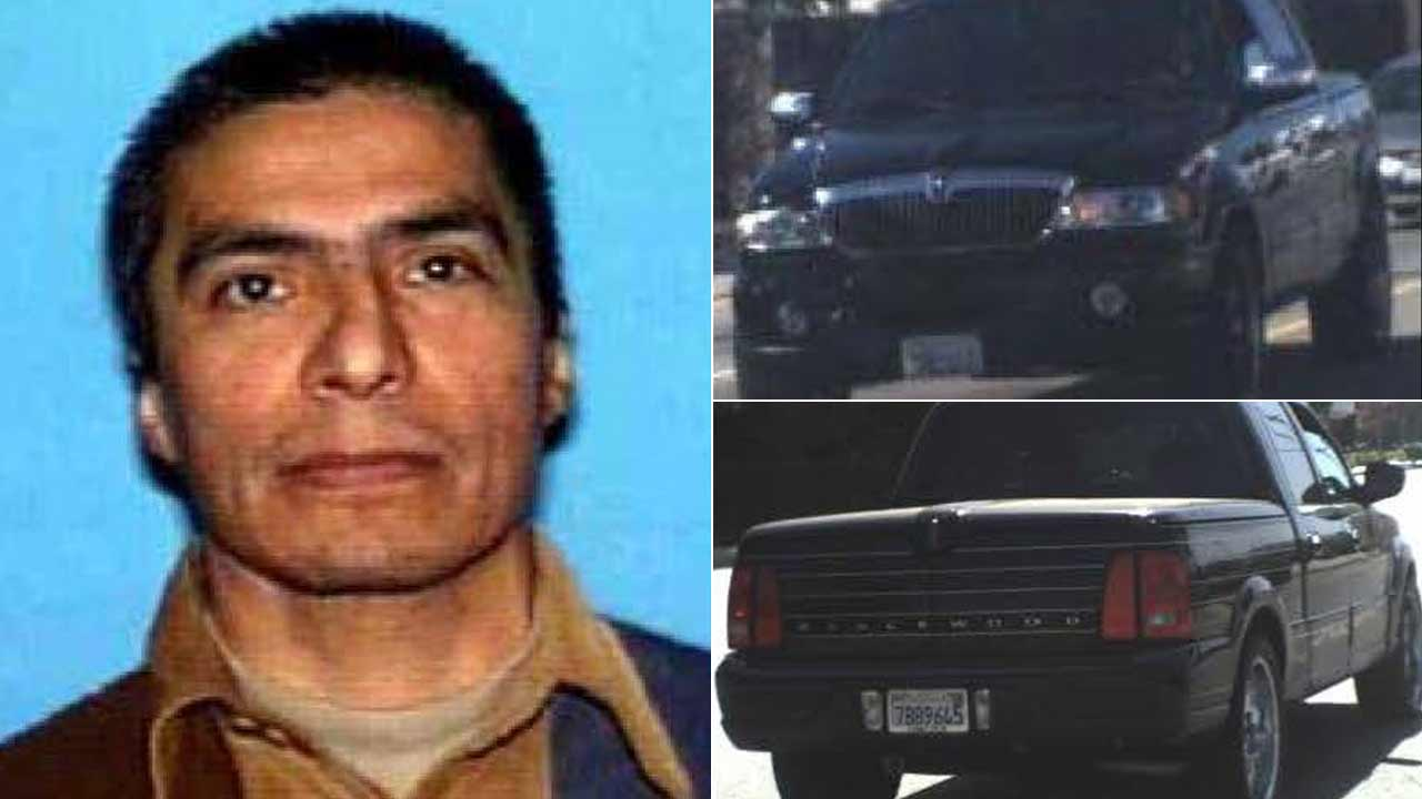 Gonzalo Lopez, 52, and his vehicle are seen in undated photos provided by the Los Angeles County Sheriff's Department.