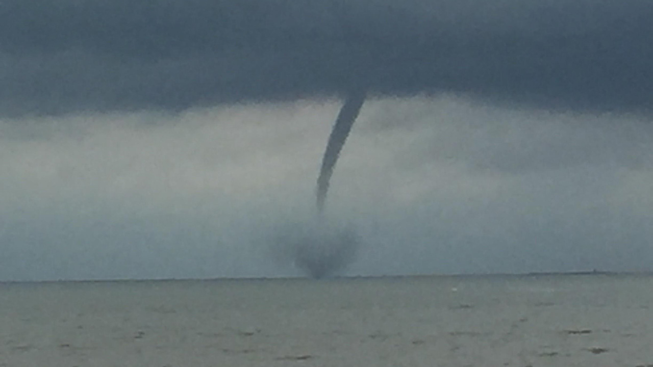 Crystal Beach waterspout