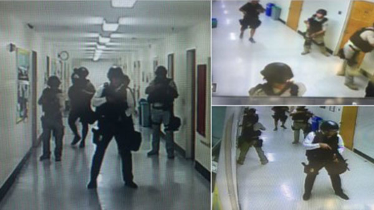 Officers are searching room-to-room inside the UCLA engineering complex after two people were shot and killed on campus.