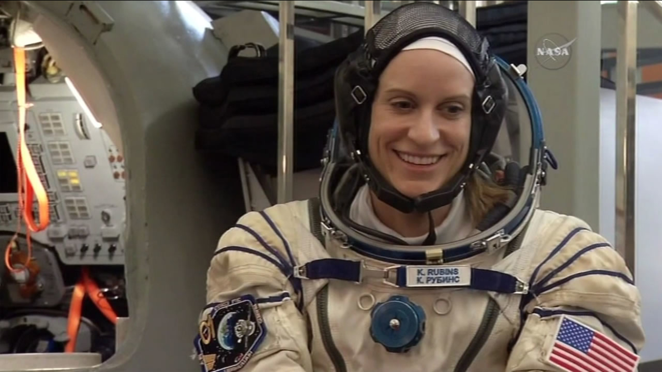 This image shows NASA microbiologist Kate Rubins who is set to head into space on her first space mission June 24, 2016.