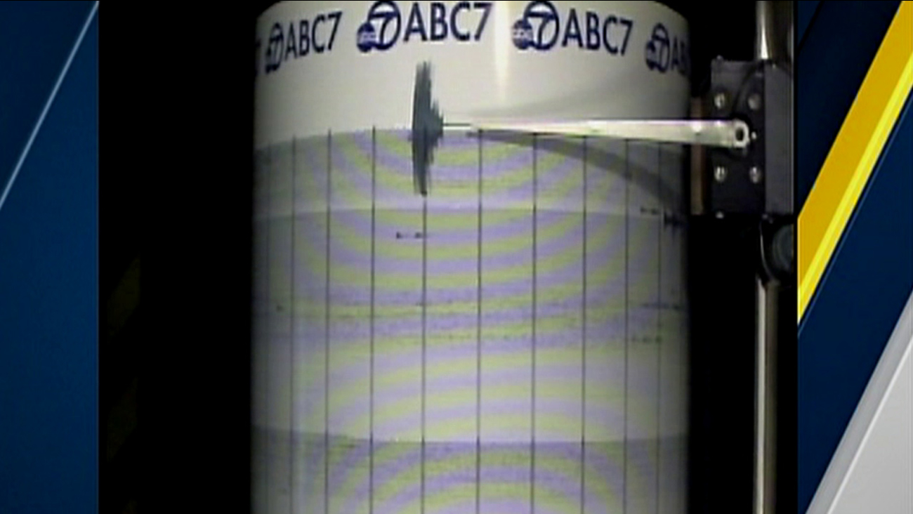 The ABC7 QuakeCam captured the moment a 3.2-magnitude earthquake struck just north of San Bernardino on Thursday, June 2, 2016.
